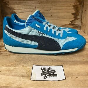 Puma suede blue grey sneakers shoes like new
